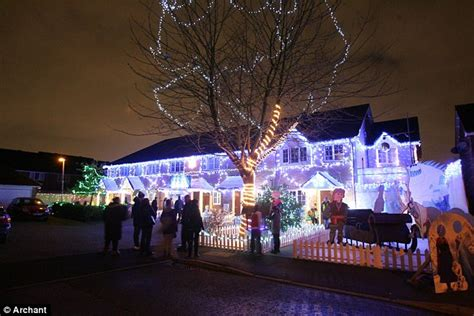 christmas lights in dagenham paying homage to frozen is