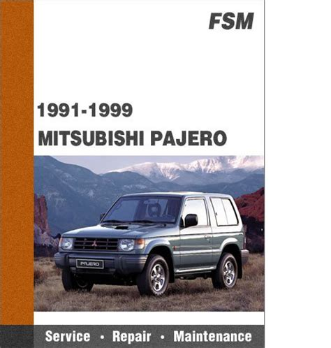 how to download repair manuals 1991 mitsubishi pajero electronic toll collection 1991 1999 mitsubishi pajero all models factory service repair manua