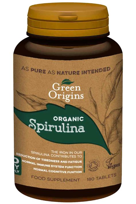 organic spirulina tablets green origins