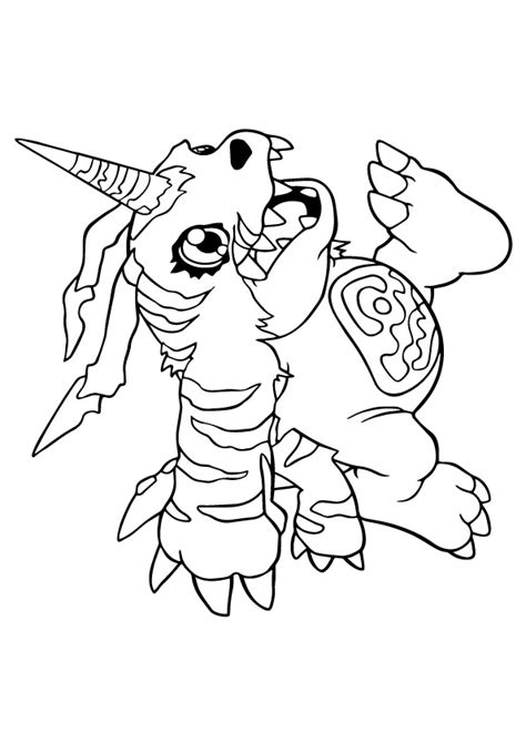 digimon gabumon coloring page  printable coloring pages  kids