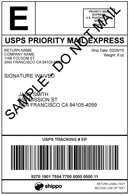USPS Shipping Label Examples – Shippo