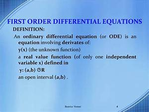 Application Of Differential Equation In Economics