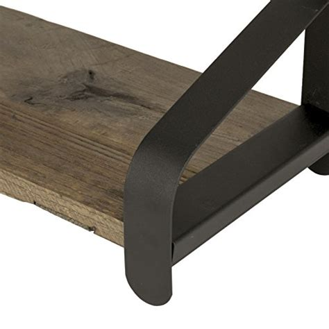 wall shelf  artifactdesign     reclaimed wood  black iron brackets perfect