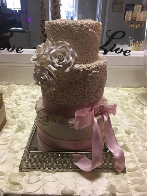 square crystal mirror cake stand party rentals