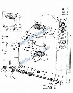 Johnson Gearcase Group Parts For 1964 9 5hp Mq