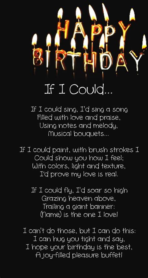 happy birthday love poems     images