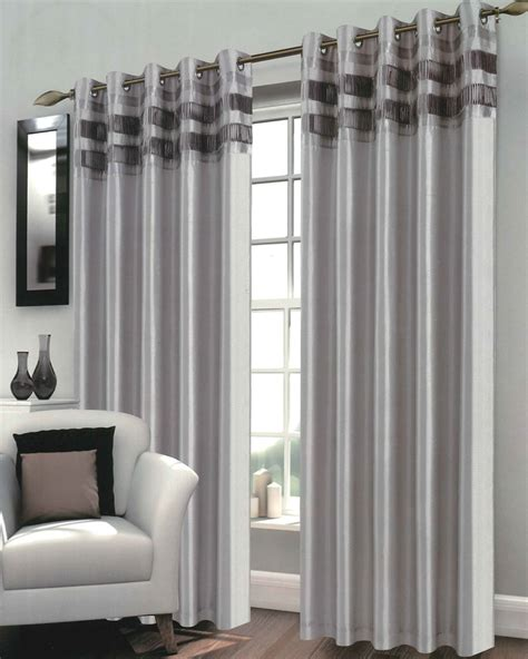 Gold And White Curtains Uk by Bergen Silver Ready Made Eyelet Curtains Harry Corry Limited