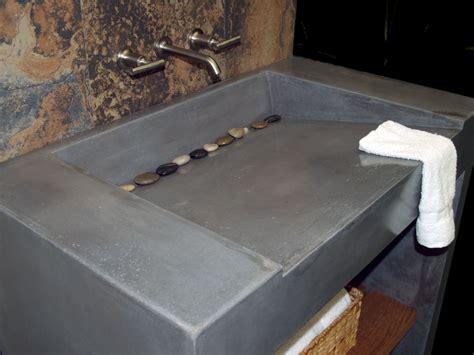 concrete bathroom sink diy custom concrete vanity and sink by coastal concrete design