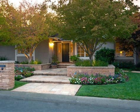 ranch home landscaping pictures front deck on front of house small 50 s bugalow reno design pictures remodel decor and