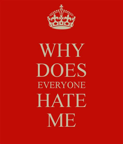 WHY DOES EVERYONE HATE ME Poster  Lance  Keep CalmoMatic