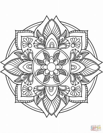 Mandala Colorare Colorear Coloring Ausmalbilder Dibujos Blumen