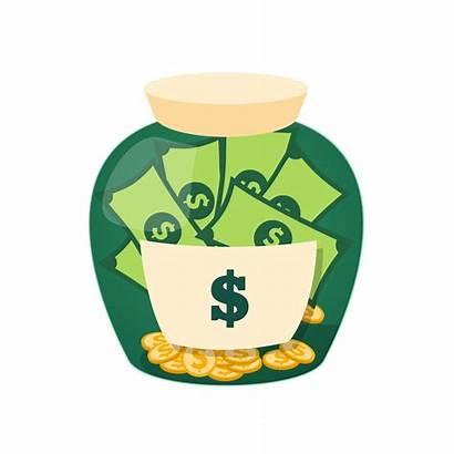 Money Jar Clipart Saving Clip Illustration Glass