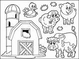 Farm Coloring Pages Animals Printable Animal Getdrawings sketch template
