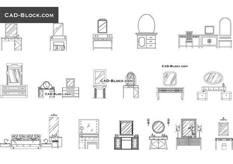 bloc cuisine autocad dressing tables cad block blocks cad