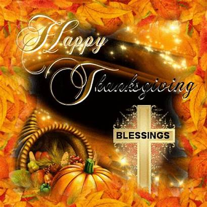 Thanksgiving Happy Blessings Gifs Quotes Animated Blessed