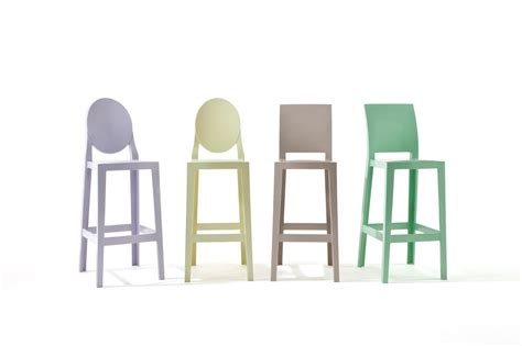 chaises philippe starck kartell one more stool square back 75cm 5896