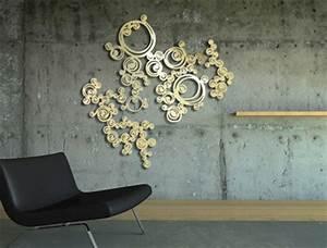 Décoration Murale Dorée : d coration murale bijou de mur volute gold design sophie briand collet sophie briand collet ~ Teatrodelosmanantiales.com Idées de Décoration