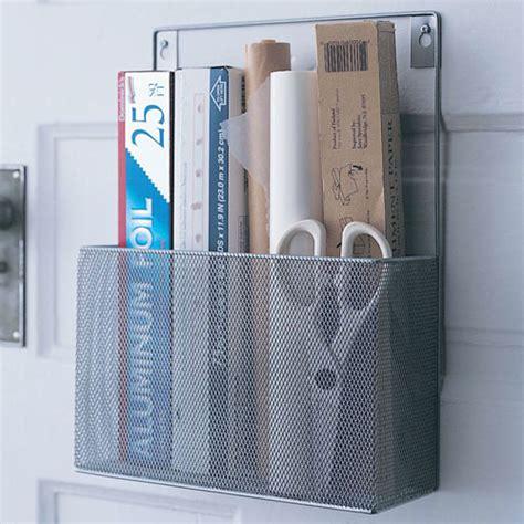 wrap organizer kitchen silver mesh mounted kitchen wrap organizer in food wrap 1188