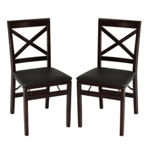 cosco wood folding chairs with square xback espresso with