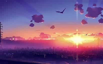 Anime Sunset Cityscape Wallpapers Wallhere