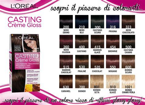 castings hair colour range colorazione creme gloss l oreal ilpiaceredipiacersi