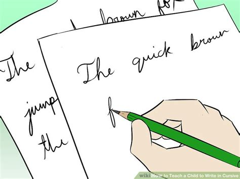 How To Teach A Child To Write In Cursive 5 Steps (with Pictures