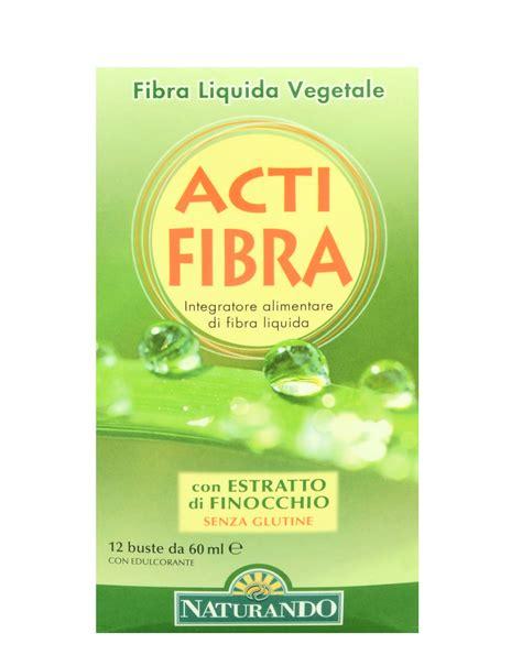 fibra vegetale alimentare acti fibra di naturando 12 buste da 60ml 10 80