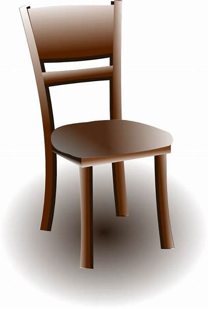 Chair Clipart Wooden Kursi Brown Wood Gambar
