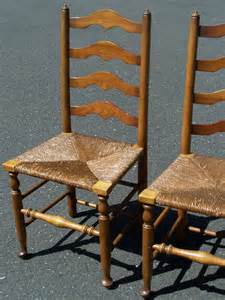 7799 set of 4 stickley ladder back maple chairs with