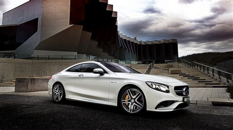 Mercedes C Class Coupe Backgrounds by 2015 Mercedes S63 Amg White Car Side View 4k