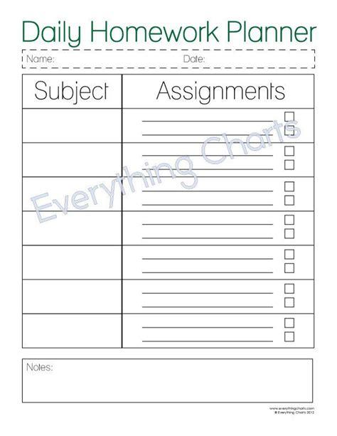 1000 Ideas About Homework Planner On Pinterest Homework