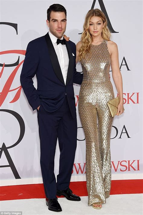 zachary quinto wife julianna margulies shows underwear in sheer dress at cfda