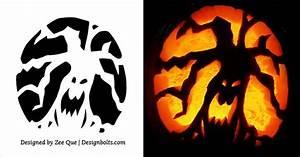 5, Free, Scary, Halloween, Pumpkin, Carving, Stencils, Designs, Printable, Patterns, U0026, Ideas, 2017