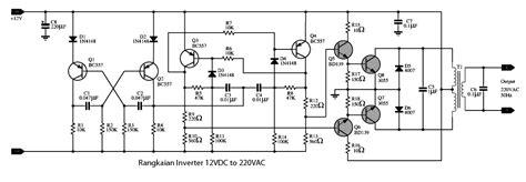 rangkaian inverter 12 vdc ke 220 vac 100 watt 187 skemaku