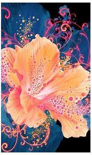 Coral hibiscus HD Wallpaper | Flower wallpaper, Flower art ...