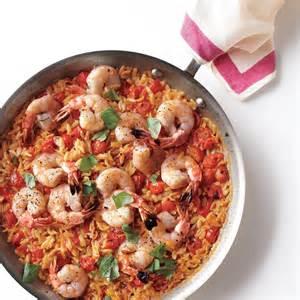 skillet shrimp  orzo recipe  everyday food