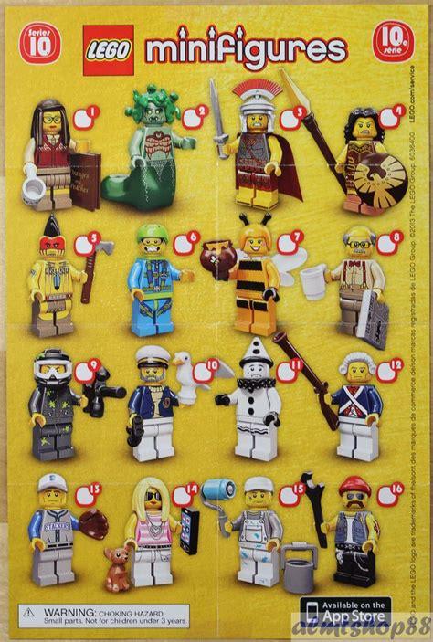 lego mini poster leaflet minifigures series 1 2 3 4 5 6 7