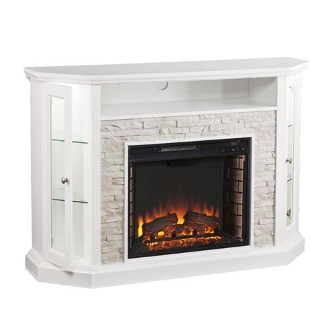 electric fireplace media cabinet best attractive white electric fireplace media console