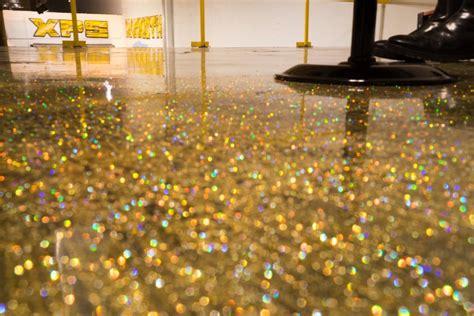 Pink Kitchen Ideas - diy metallic epoxy floor application gold glitter