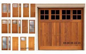 Porte De Garage Bois : porte de garage bois bordeaux ~ Melissatoandfro.com Idées de Décoration