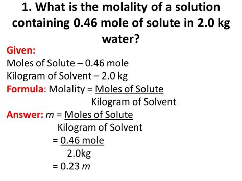 Molarity And Molality  Ppt Video Online Download