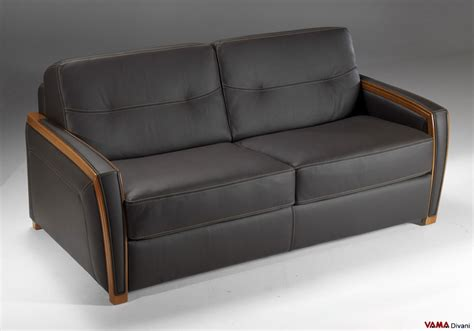 Contemporary Leather Double Sofa Bed