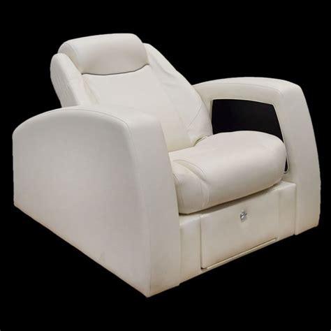 Pontoon Boat Lounge Seats by Godfrey 14 Ap Sl White Reclining Pontoon Boat Lounge Seat