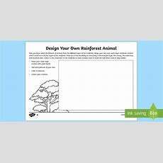 Design Your Own Rainforest Animal Read And Draw Worksheet  Worksheet World
