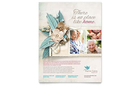 Home Health Care Brochure Templates by Hospice Home Care Brochure Template Design