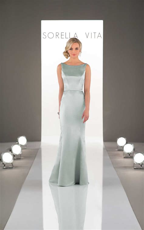 bridesmaid gowns classic satin bridesmaid dress
