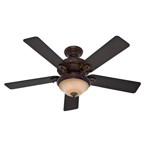 52 ceiling fan with light shop hunter vernazza 52 in brushed cocoa indoor downrod or