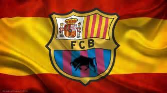 Papier Peint Football Barcelone by Papier Peint Barca Logo Fc Barcelona Espagne Drapeau