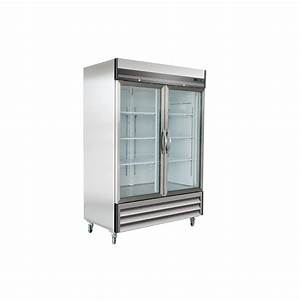 Maxx Cold X-Series 49 cu. ft. Double Glass Door Commercial ...