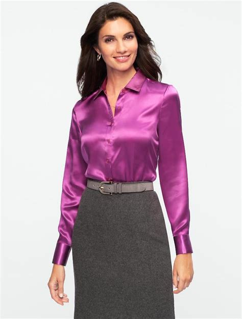 plus size silk blouses european and fashion quality sleeve